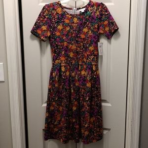 Brand New Multicolored Lularoe Amelia Dress